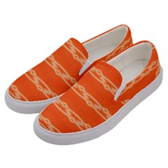 Pattern Orange Men s Canvas Slip Ons by HermanTelo