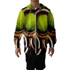 Sport Ball Tennis Golf Football Kids  Hooded Windbreaker