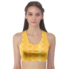 Pattern Yellow Sports Bra