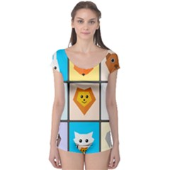 Animals Cute Flat Cute Animals Boyleg Leotard  by HermanTelo