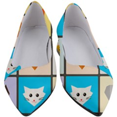 Animals Cute Flat Cute Animals Women s Block Heels  by HermanTelo