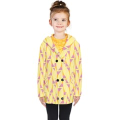 Yellow Pink Kids  Double Breasted Button Coat by HermanTelo