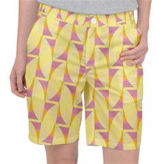 Yellow Pink Pocket Shorts by HermanTelo