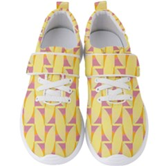 Yellow Pink Men s Velcro Strap Shoes by HermanTelo