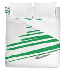 Christmas Tree Pine Holidays Duvet Cover Double Side (queen Size)