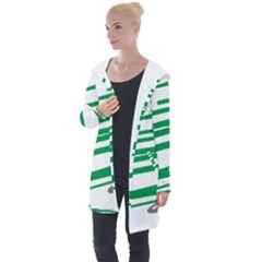 Christmas Tree Pine Holidays Longline Hooded Cardigan