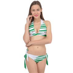 Christmas Tree Pine Holidays Tie It Up Bikini Set