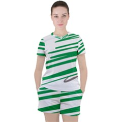 Christmas Tree Pine Holidays Women s Tee And Shorts Set