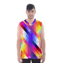 Abstract Blue Background Colorful Pattern Men s Sportswear