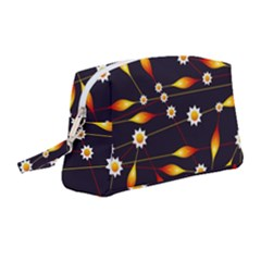 Flower Buds Floral Background Wristlet Pouch Bag (medium)