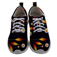 Flower Buds Floral Background Women Athletic Shoes by HermanTelo