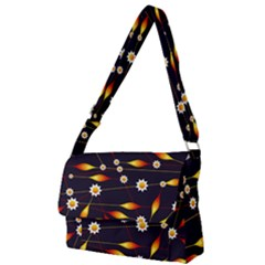 Flower Buds Floral Background Full Print Messenger Bag (l)
