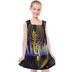 Background Level Clef Note Music Kids  Cross Back Dress