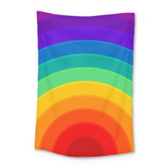 Rainbow Background Colorful Small Tapestry