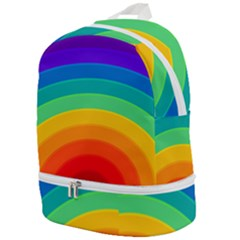Rainbow Background Colorful Zip Bottom Backpack