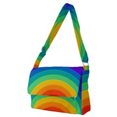 Rainbow Background Colorful Full Print Messenger Bag (m)