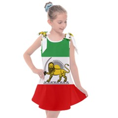 State Flag Of The Imperial State Of Iran, 1907 1979 Kids  Tie Up Tunic Dress by abbeyz71