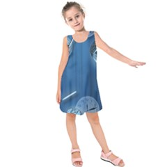 Time Clock Watch Hours Kids  Sleeveless Dress by HermanTelo