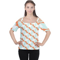 Wallpaper Chevron Cutout Shoulder Tee