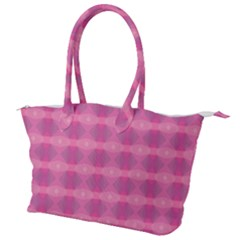 Pink Canvas Shoulder Bag