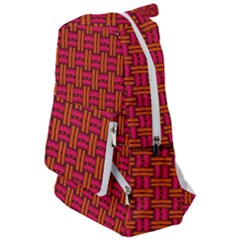Pattern Red Background Structure Travelers  Backpack