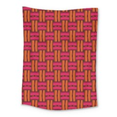 Pattern Red Background Structure Medium Tapestry