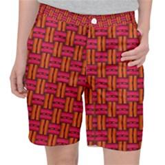 Pattern Red Background Structure Pocket Shorts by HermanTelo