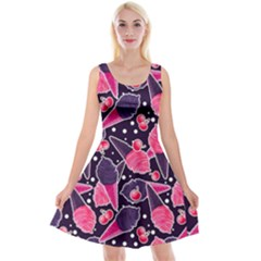 Strawberry Ice Creams Reversible Velvet Sleeveless Dress by trulycreative
