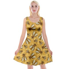 Honey Bee Flaxen Reversible Velvet Sleeveless Dress by trulycreative