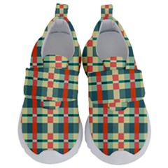 Texture Plaid Kids  Velcro No Lace Shoes