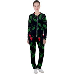 Roses Flowers Spring Flower Nature Casual Jacket And Pants Set