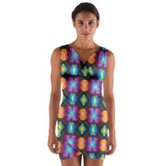 Squares Spheres Backgrounds Texture Wrap Front Bodycon Dress