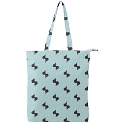 Illustrations Double Zip Up Tote Bag