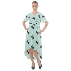 Illustrations Front Wrap High Low Dress