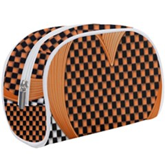 Heart Chess Board Checkerboard Makeup Case (large)