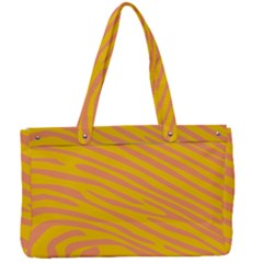 Pattern Texture Yellow Canvas Work Bag