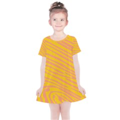 Pattern Texture Yellow Kids  Simple Cotton Dress