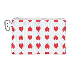 Heart Red Love Valentines Day Canvas Cosmetic Bag (large)
