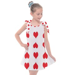 Heart Red Love Valentines Day Kids  Tie Up Tunic Dress by HermanTelo