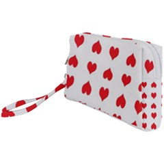 Heart Red Love Valentines Day Wristlet Pouch Bag (small) by HermanTelo