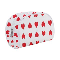 Heart Red Love Valentines Day Makeup Case (small) by HermanTelo