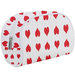 Heart Red Love Valentines Day Makeup Case (large) by HermanTelo