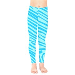 Pattern Texture Blue Kids  Leggings by HermanTelo