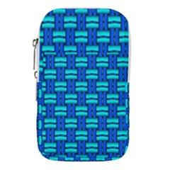 Pattern Graphic Background Image Blue Waist Pouch (large)