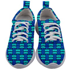 Pattern Graphic Background Image Blue Kids Athletic Shoes by HermanTelo
