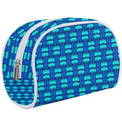 Pattern Graphic Background Image Blue Makeup Case (large) by HermanTelo