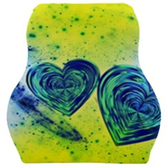 Heart Emotions Love Blue Car Seat Velour Cushion