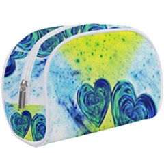Heart Emotions Love Blue Makeup Case (large) by HermanTelo