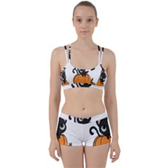 Halloween Cute Cat Perfect Fit Gym Set by HermanTelo