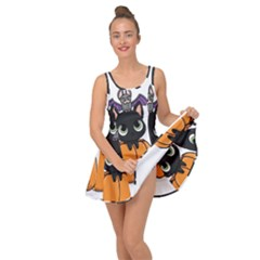 Halloween Cute Cat Inside Out Casual Dress